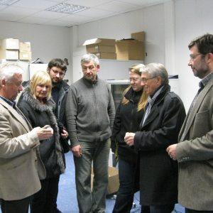 (v. l. n. r.) Reiner Haffer, Heidrun Opländer, Philipp Hesse, Joachim Ciliox, Katharina Hesse, Detlef Ruffert,  Karl-Heinz Schneider